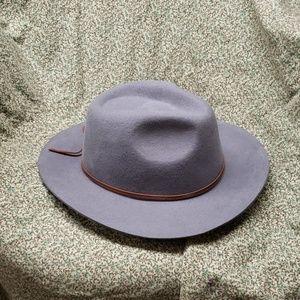 Men's Gray Wool Wide Brim Brixton Hat Sz XL